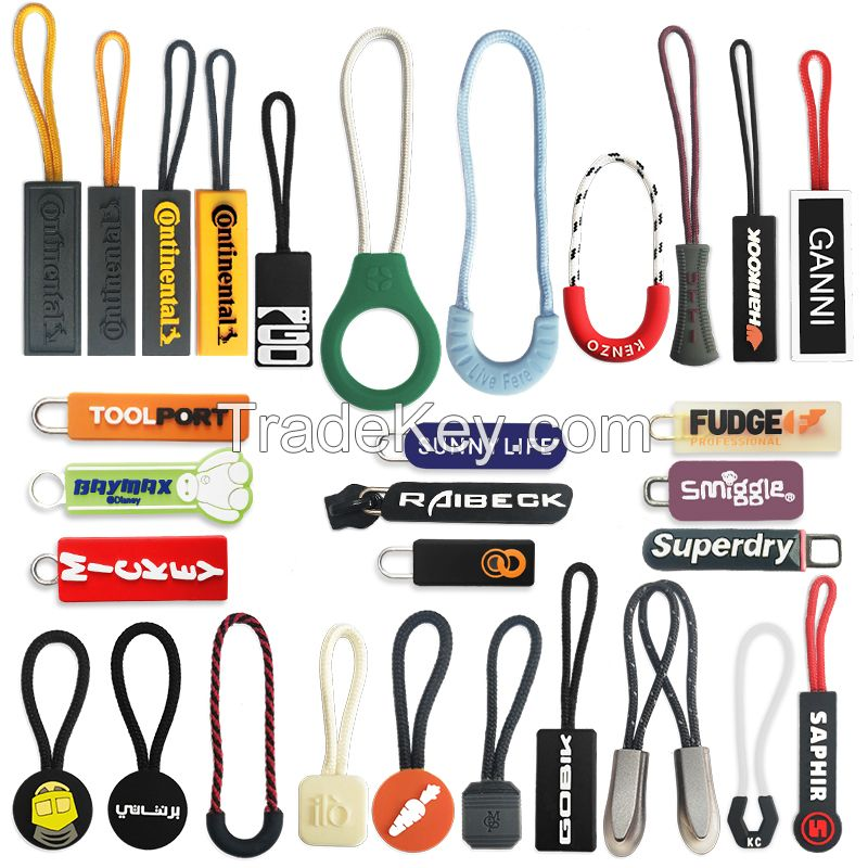 Custom logo, puller, patch from rubber, plastic