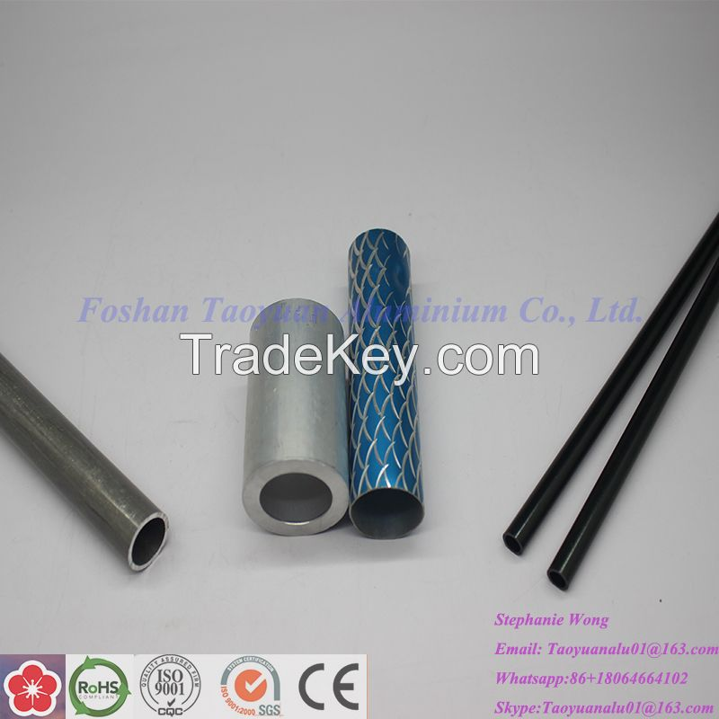 100% inspection aluminum square tube and round pipe profile