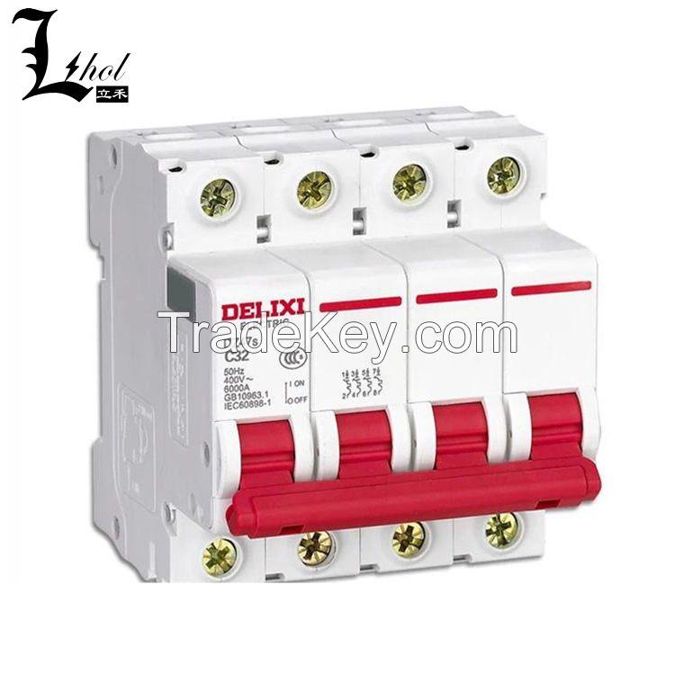 High Quality Delixi 4P Miniature Circuit Breaker DZ47s