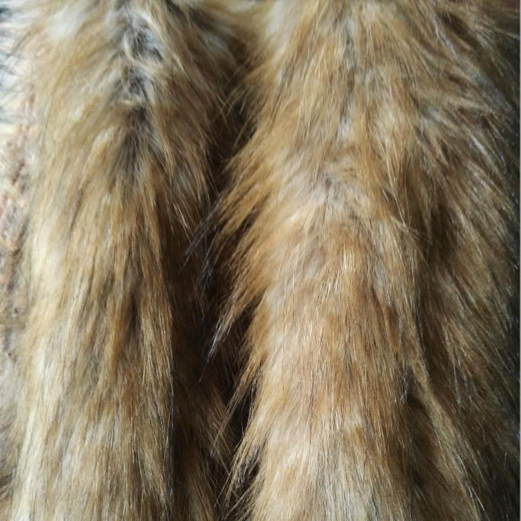 Popular jacquard long pile wolf dog faux fur fabric