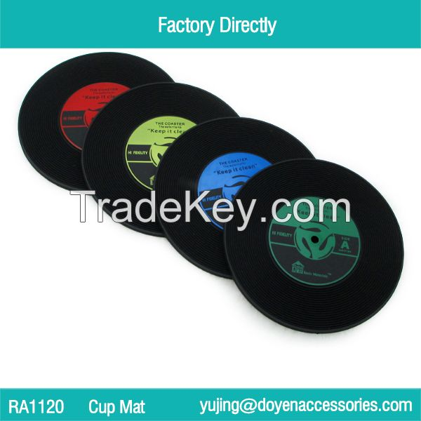Doyen Rubber Coaster, Mori Beverage Coasters Place Mat Glass Cup Holder Table Decoration for Drink