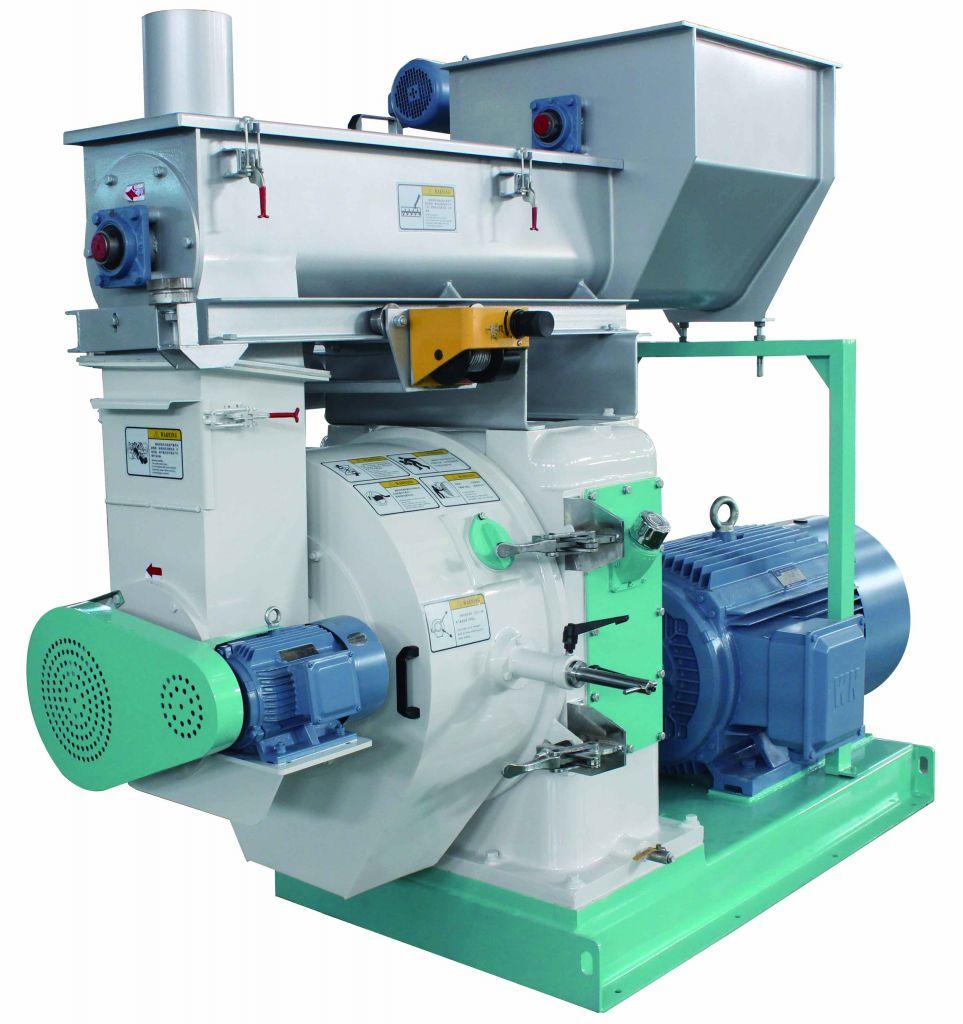 Wood pelletizer machine acacia / rubber wood pellet production equipment