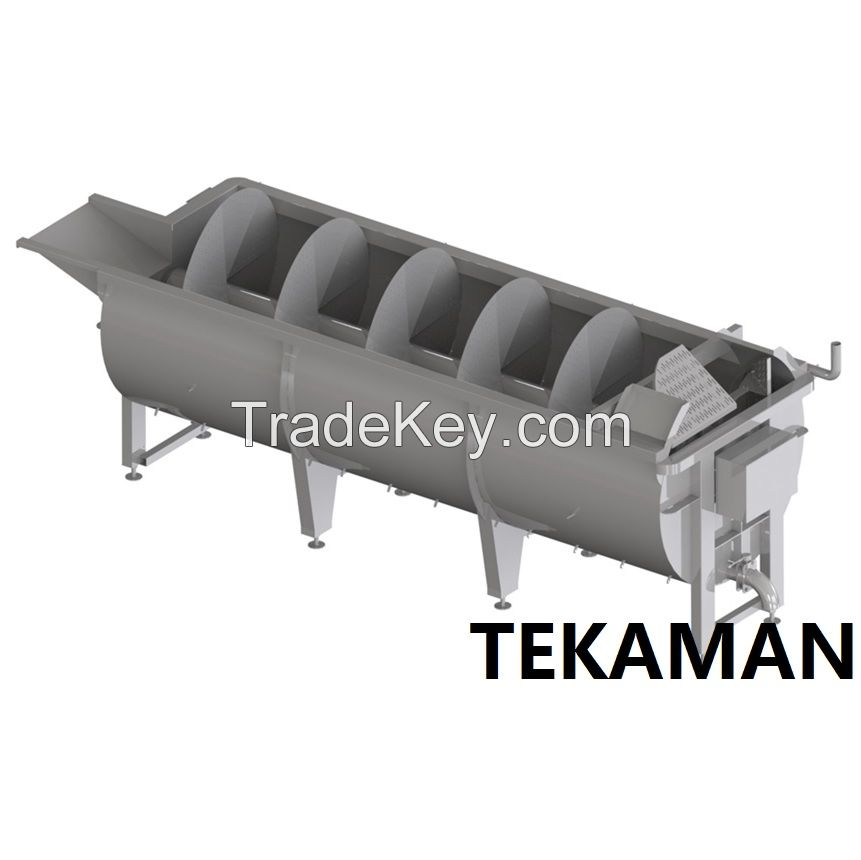 AUGER CHILLER - CHILLING AND WEIGHING - POULTRY PROCESSING EQUIPMENT