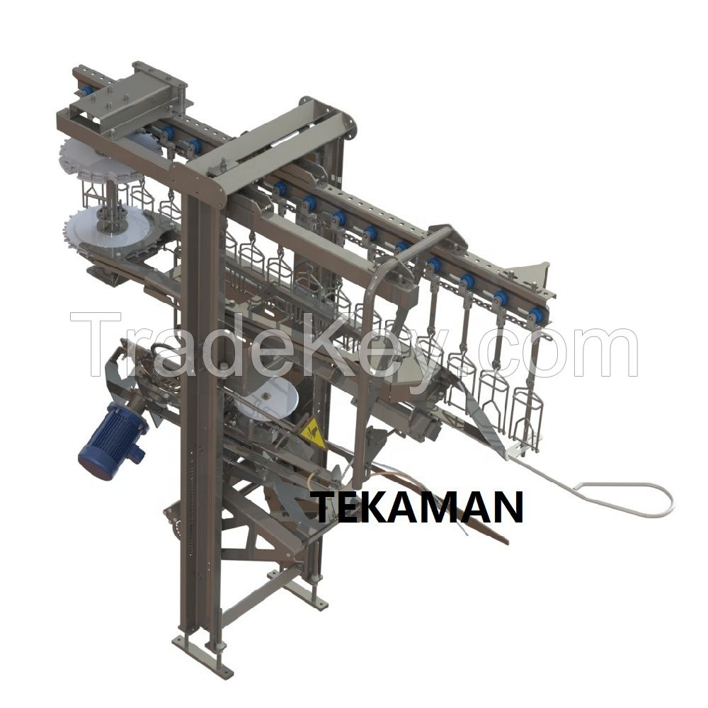AUTOMATIC KILLER - POULTRY DEFEATHERING - POULTRY PROCESSING EQUIPMENT