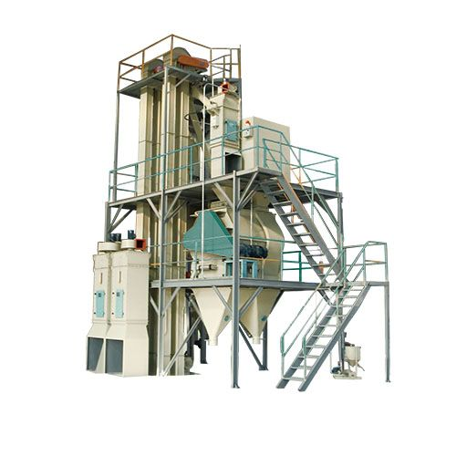 Poultry and livestock feed pellet machines producing feed plant design turnkey project