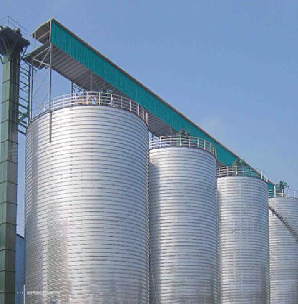 stainless steel 5000 tons grain storage silos silo for wheat storage silo system