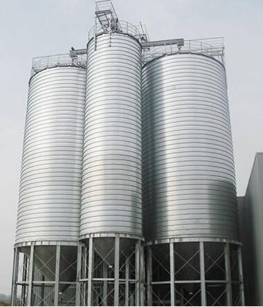 Widely applicable silo for coffee bean waste shell storage cement silo