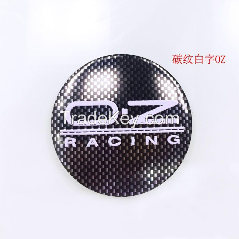 56mm SSR Aluminium Car Wheel Hub Center Caps Emblem Sticker