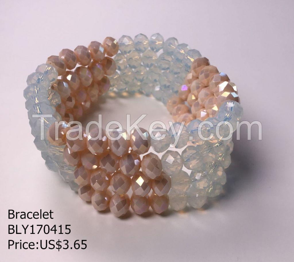 fashion beaded bracelet handmade elastic bracelet multillayer bracelet