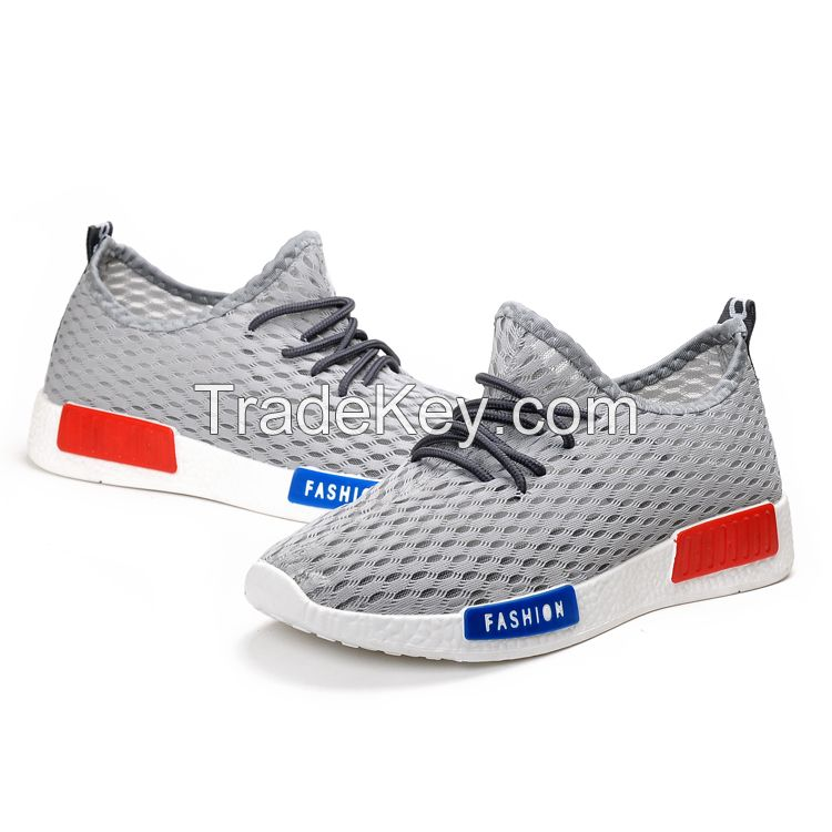 fashionable breathable mesh sport shoes for men