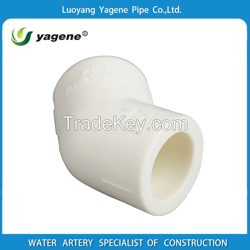 Top quality PPR plastic Pipe fitting 45 degree elbow for widely use