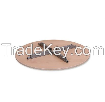 ROUND FLOOR TABLE WITH METAL LEGS
