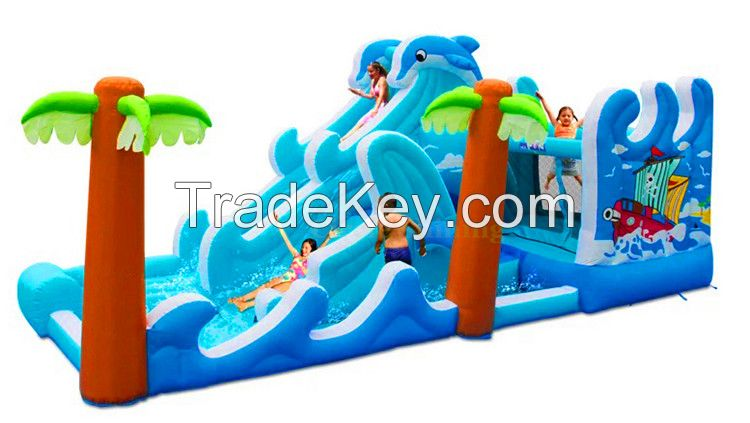Inflatable Slide and Obstacle Combo