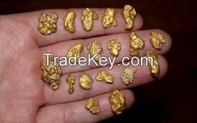Gold Nuggets, Gold Bars, Gold Dust 99.99%