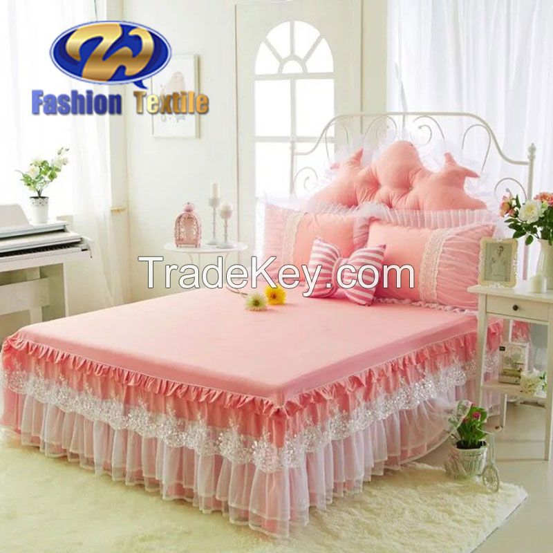 Orange king size aeelastic colored bed skirts dust ruffles