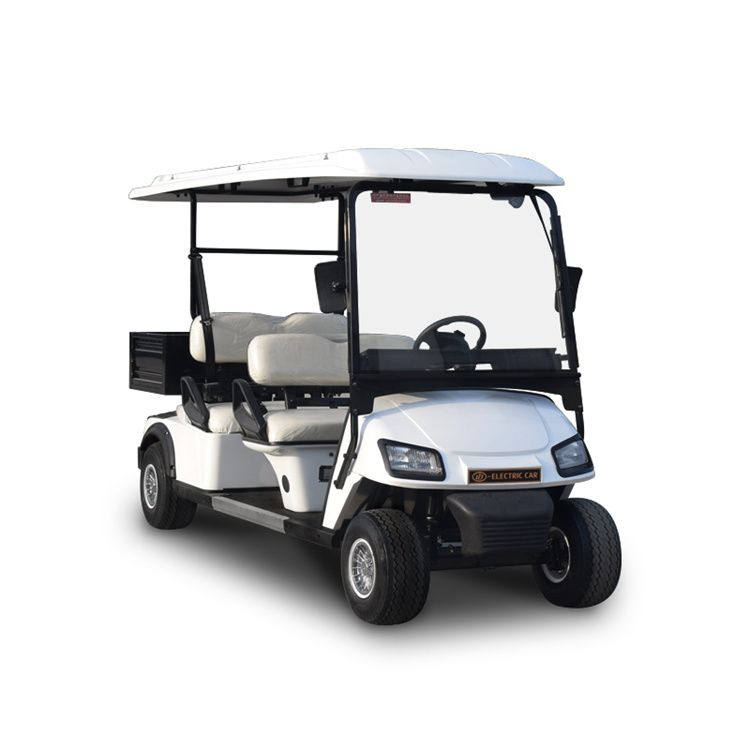 Electric vehicle 4 seater golf carts with cargo box