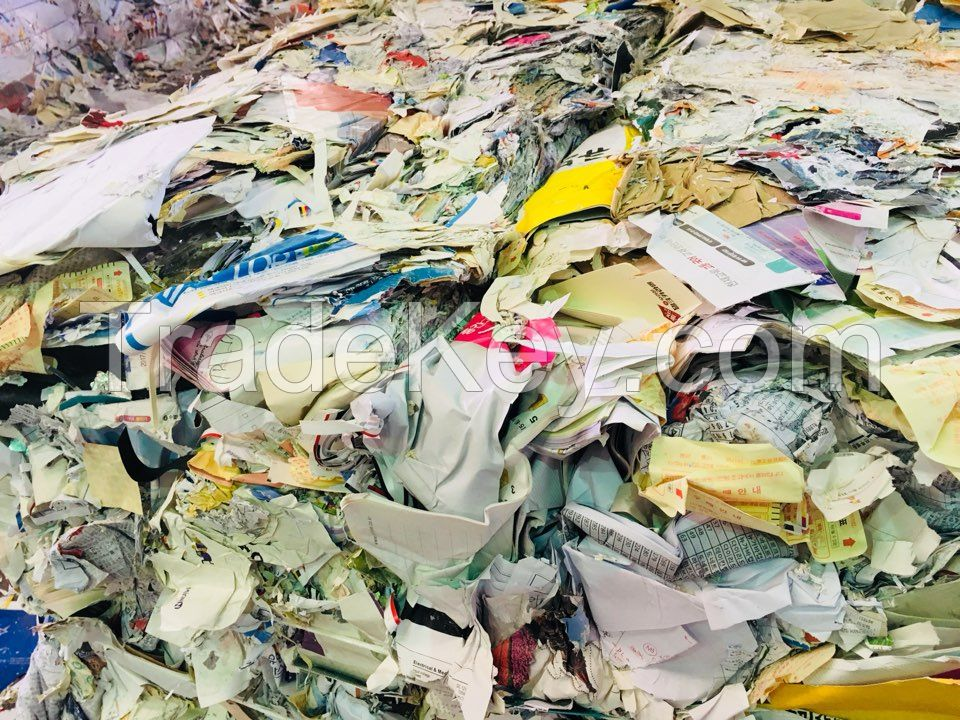 waste paper OCC/BBC/CBS/Magazine/Thermal paper/white paper with no print