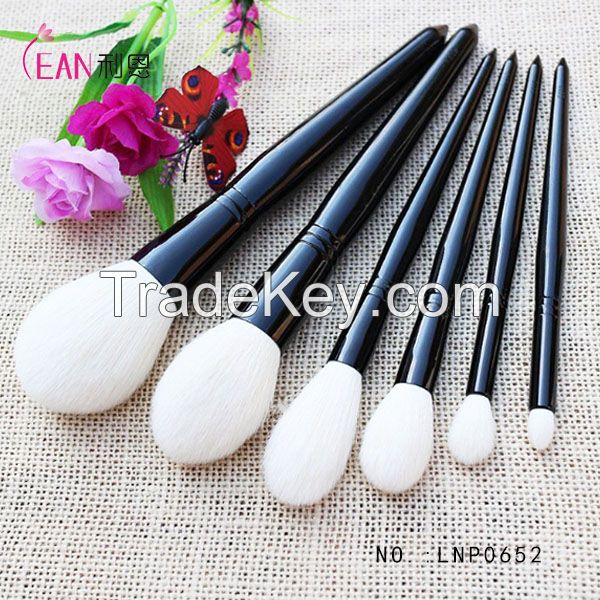 New 6pieces Rose Gold color wood professional makeup brush set, 6pcs Cosmetic Brushes kits