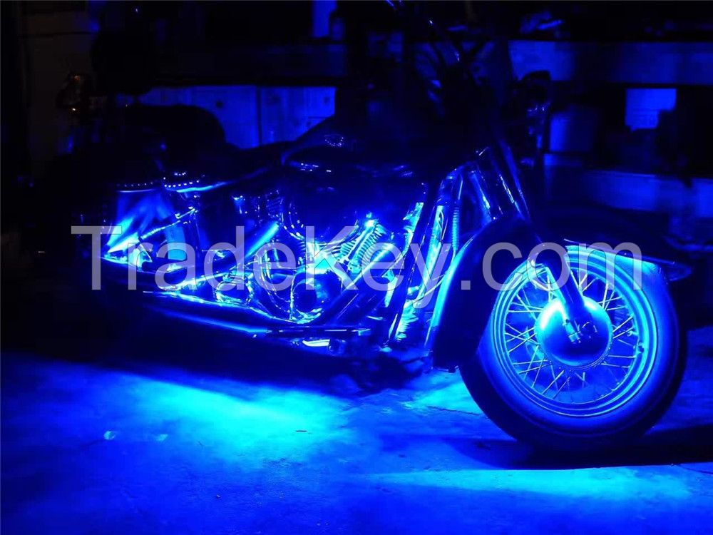 Motorcycle led lights-6PCS RGB LED-Control Car Light Atmosphere Strip Kits