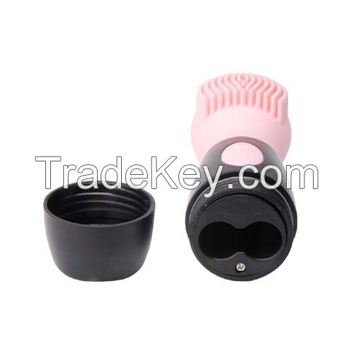 Pink CNV Electric Ultrasonic Face Cleansing Facial Brush Silicone Facial Brush, Cleanser and Massager - Waterproof, Vibrating Sonic Facial Cleansing System, 8000RPM