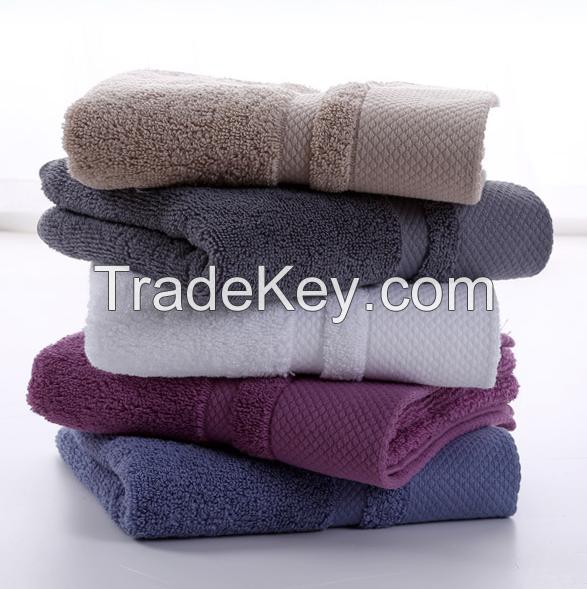 34x74cm plush cotton high absorptent custom logo face towel