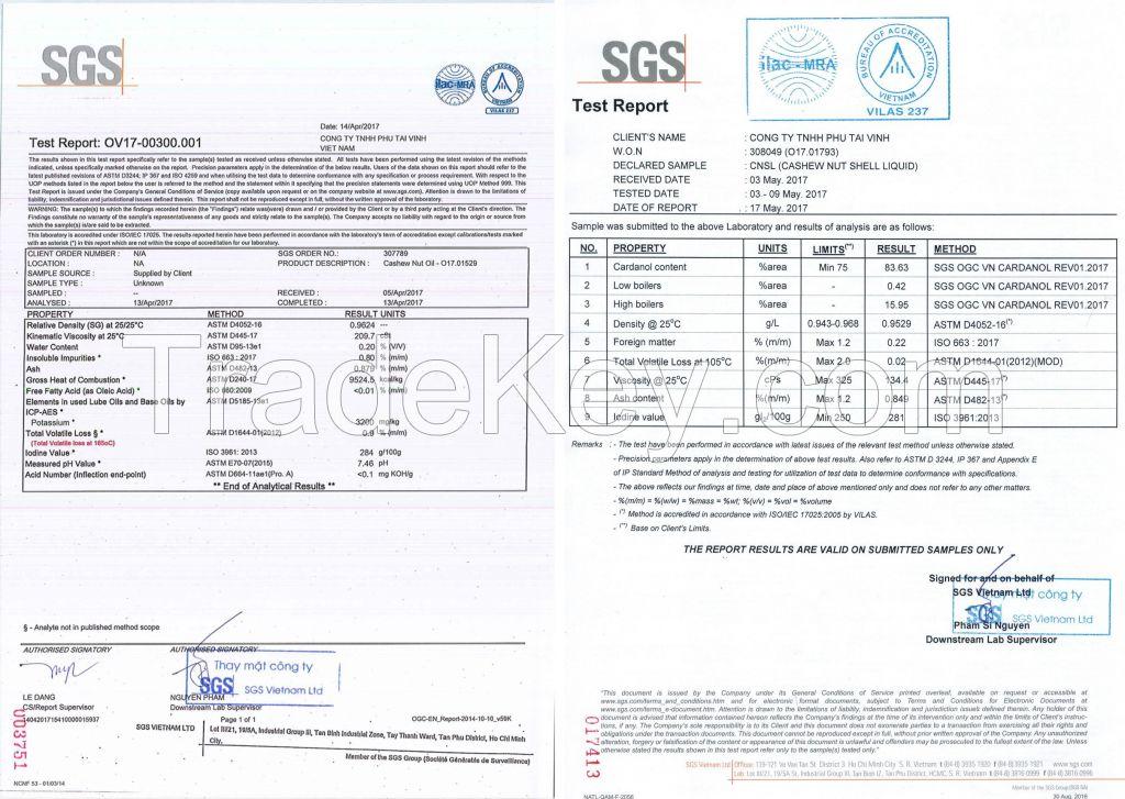 Cashew nut shell liquid - CNSL - CNSO for Bio heavy oil