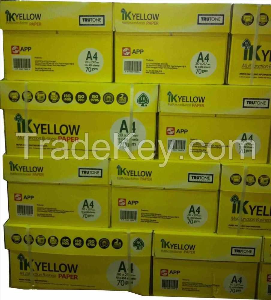 IK Yellow, Chamex, Xerox,Paper One, A4 Copy Paper 80gsm, 75gsm, 70gsm
