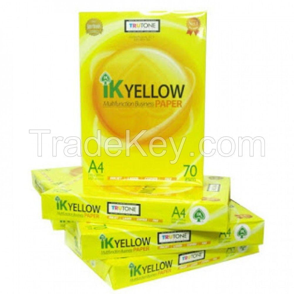 IK Yellow A4 Copy Paper 80gsm, 75gsm, 70gsm