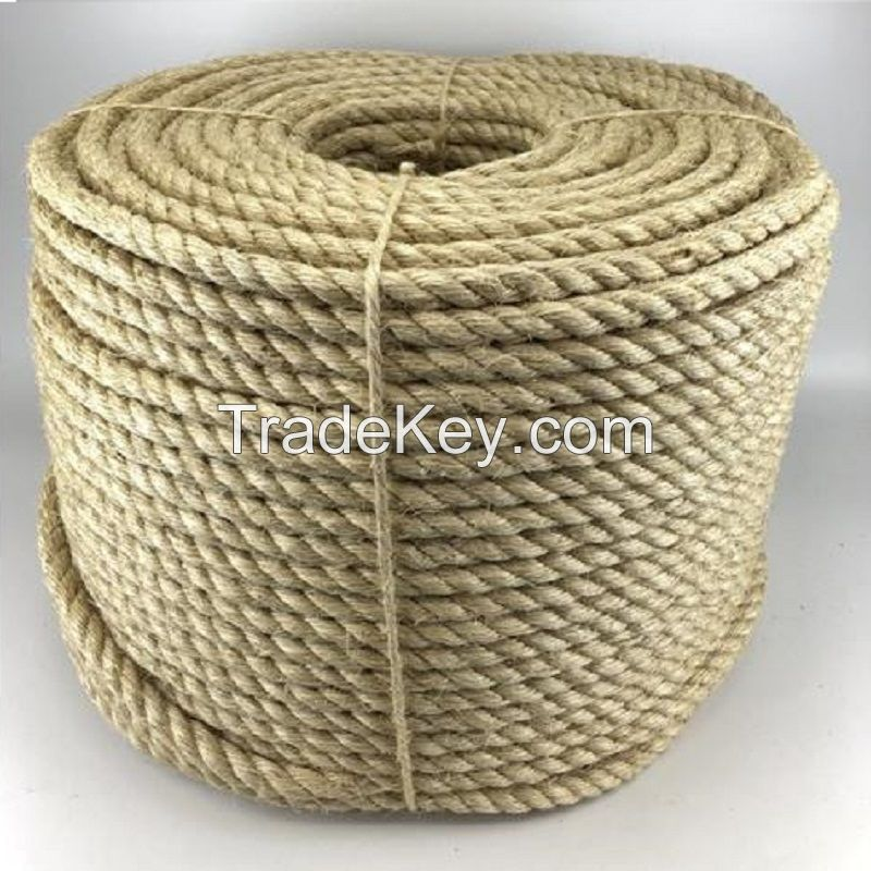 Natural White Sisal Packing Rope 3 Strands