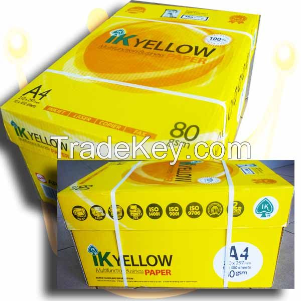 IK Yellow Copy Paper 80gsm