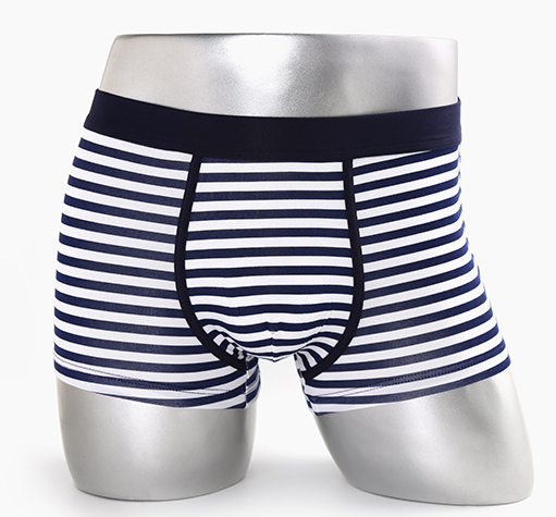 Men's yarn dyed underwear boxer