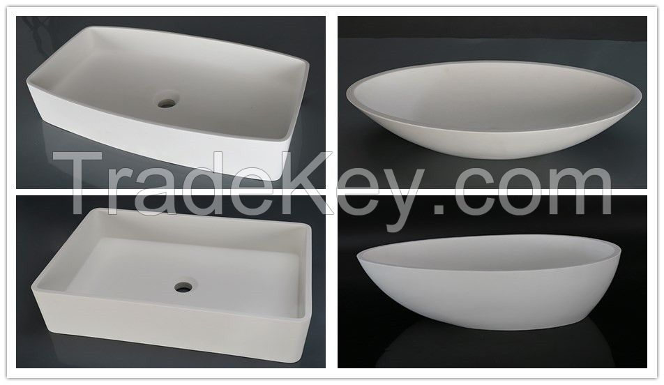Solid surface Art basin Man-made stone sink