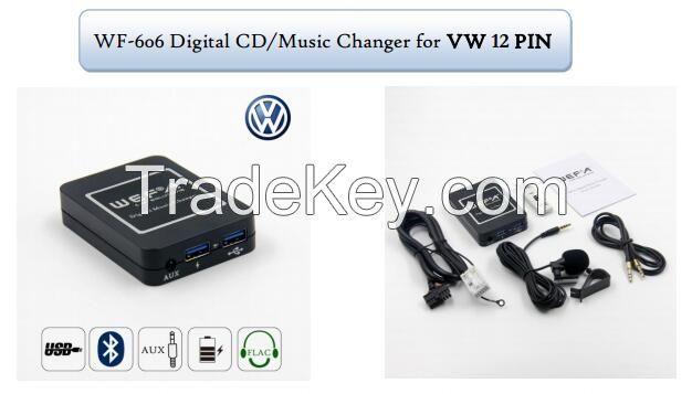 WEFA Digital Music CD Changer Bluetooth Car Adapter Hands Fress Call Adapter For Volkswagen