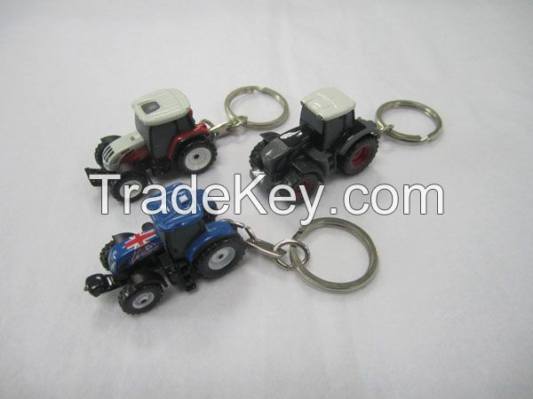 scale craftwork key chain construction machinery