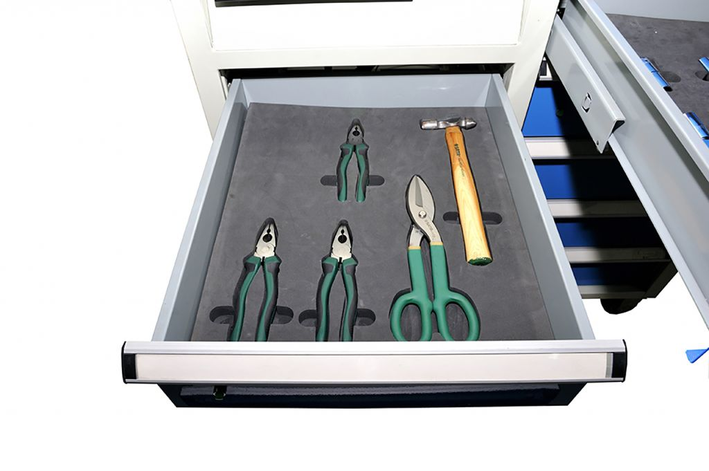 SanJi-First Tool Cabinet, Central locking system , Blue+Gray+ Red, Bearing A/B�tabletop optional, Can be customized�
