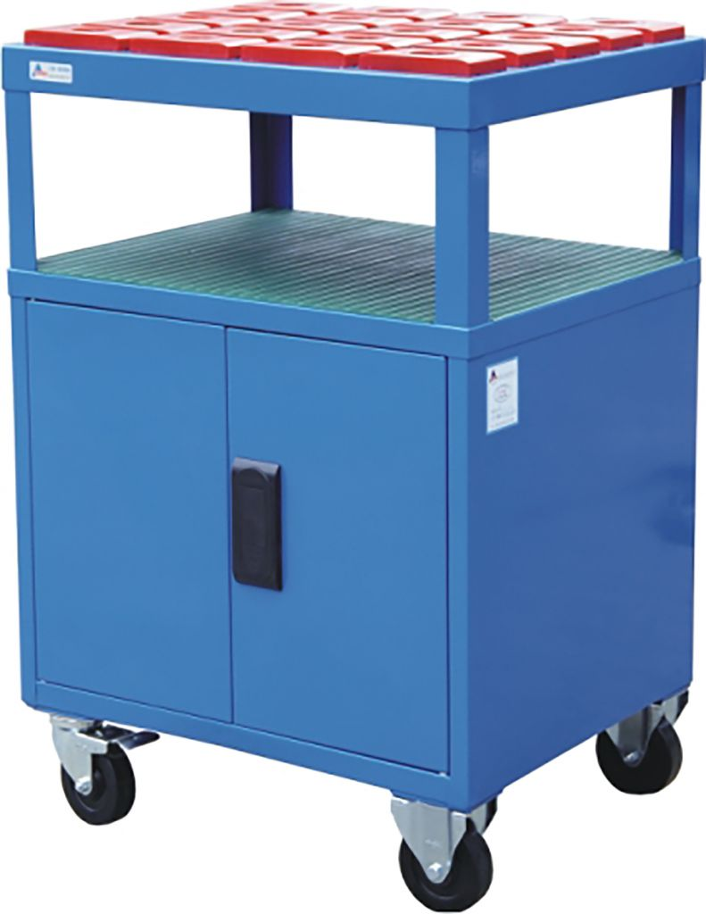 SanJi-First CNC Mobile Tool Cabinet, Large capacity, safe placement, Blue+Gray+ Red�Color optional, Can be customized�