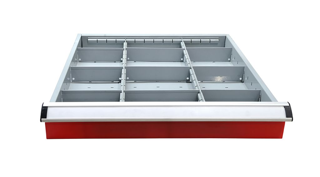 SanJi-First Multifunction Tool cabinet and Black top cover, double guide rail,Blue+Gray+ Red Bearing A/B (tabletop optional,Can be customized)