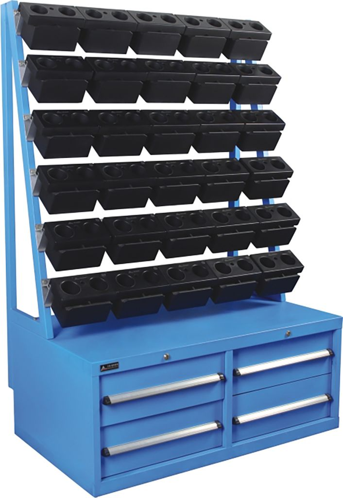 SanJi-First CNC Tool Rack, Large capacity, safe placement and Send 30PCS BT50 Double Hole Boxes each Set Blue�Can be customized�