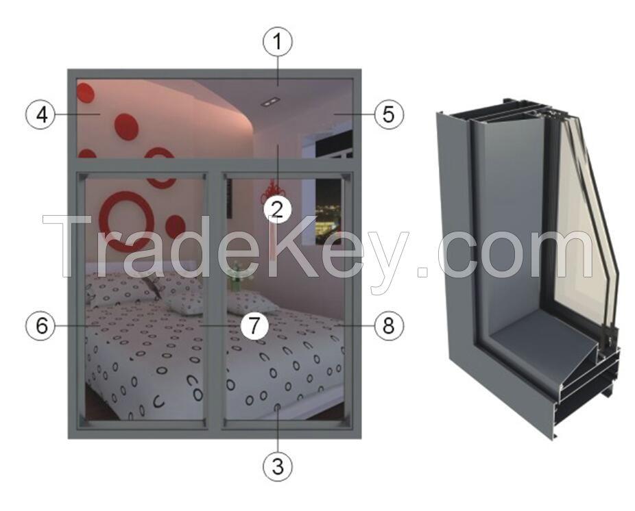 GRD65-series broken bridge insulated casement window series