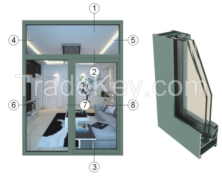 Anodized aluminum alloy profile