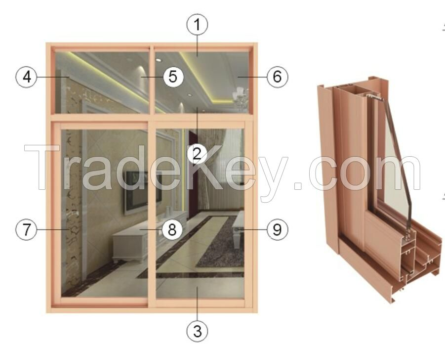 Wood grain transfer aluminum alloy profile
