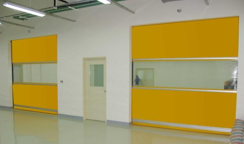 High Quality High Speed Plastic Interior Pvc Door/ Rolling Shutters Door
