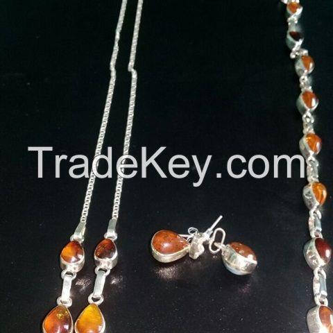 Larimar and Amber Jewelry