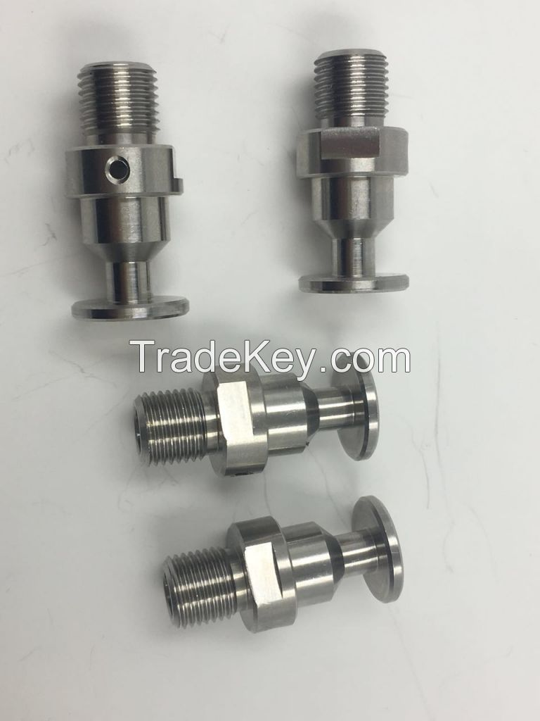CNC turning and milling Stainless steel valve part