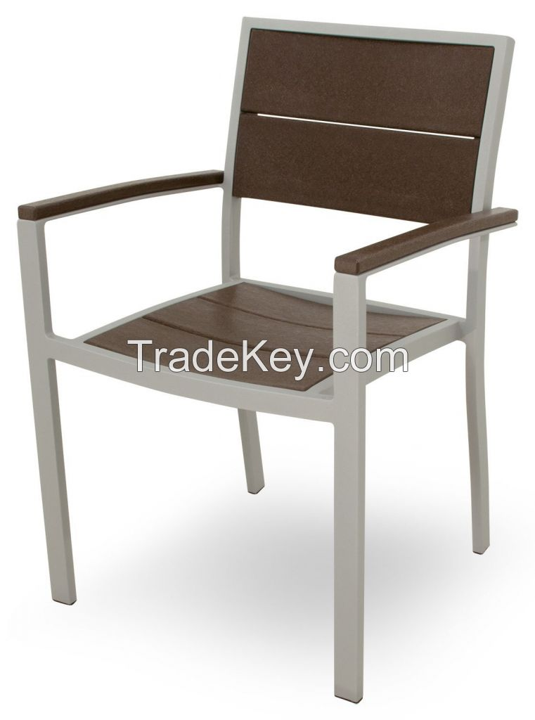 High quality outdoor table set polywood 6 chairs dining set