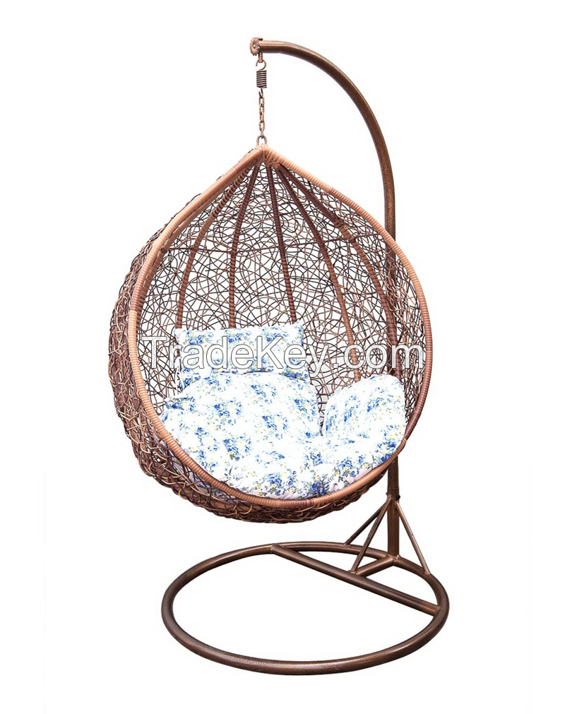 Home use garden outdoor wicker relaxed swing nest hanging pod rattan egg chair