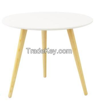 morden round small coffee wood table