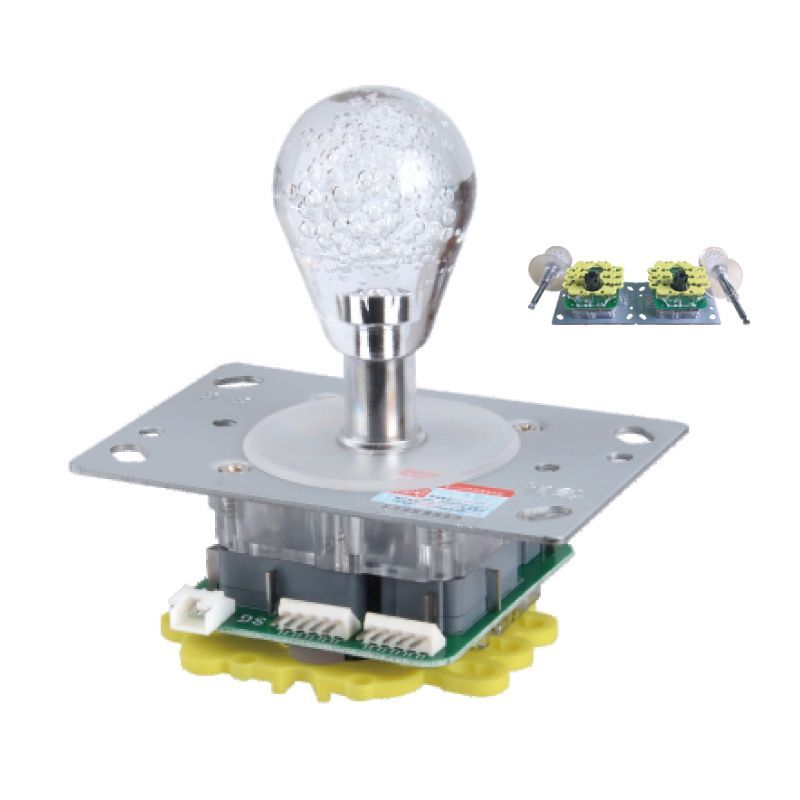 4/8 ways colorful  illuminated crane and fighting games machines controller crystal ball  joystick