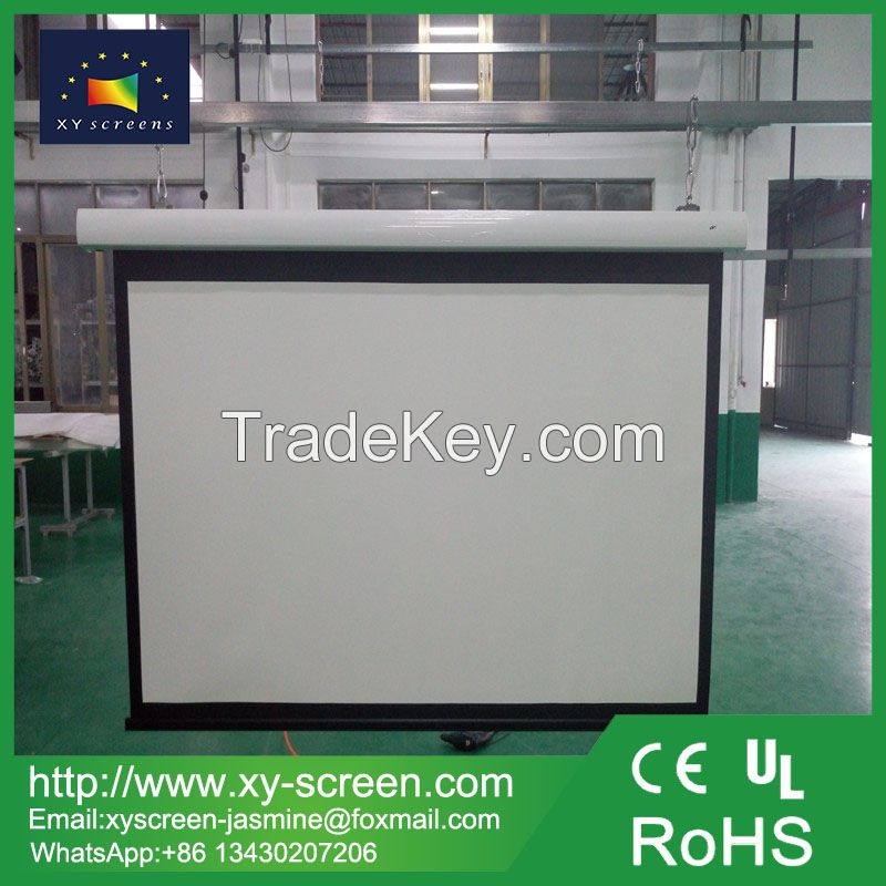 XYSCREEN Motorized projector screen video wall screen classroom furniture Motorized projector Screen