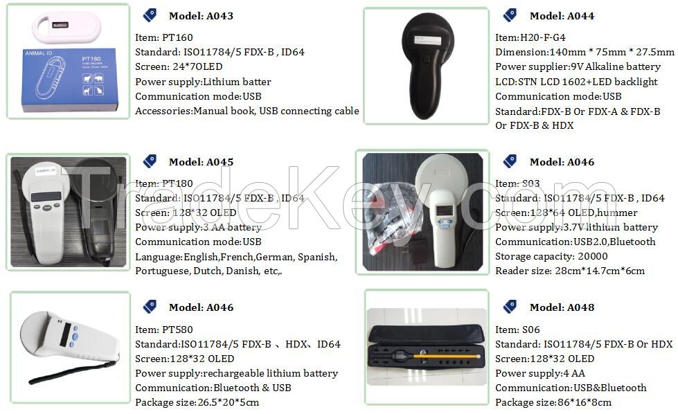 134.2kHz Animal RFID Tag Handheld Reader